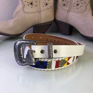 EXPRESS Beaded Western Native Belt Medium